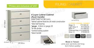 4 Drawer Vertical Metal File Cabinet by Jecams Inc 4 Layer Lateral Cabinet Flush Handle