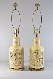 Asian Style Table Lamps Asian Style Porcelain Cream Yellow Table Lamps By Paul Hanson