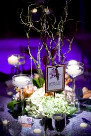 Purple Floating Candles For Centerpieces by White Floating Candle With Purple Orchid Flower On Glass For