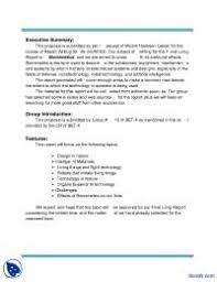 Formal Business Report Sample  a report template  business