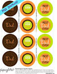 FREE Father's Day Circle tags or Cupcake Toppers!