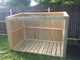 Free Wooden Garbage Box Plans by How To Build A Trash Can Shed Plans Available