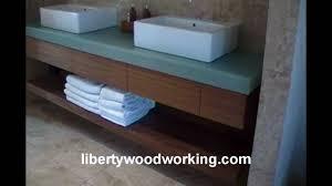 floating bathroom sink vanity cabinet youtube