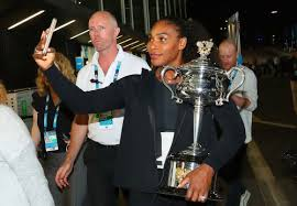 Serena Williams of the United States poses with the Daphne Akhurst Memorial Cup after winning the      Women     s Singles Australian Open Championship at     Tumblr