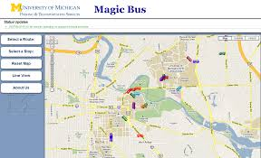 Map Of University Of Michigan by Magic Bus On City Go Round