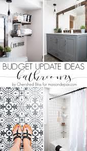Affordable Bathroom Remodel Ideas Budget Bathroom Updates 5 Tips To Affordable Bathroom Makeovers