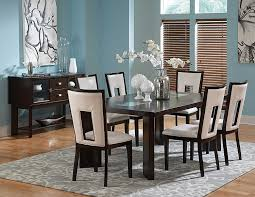 Glass Rectangle Dining Table Amazon Com Delano Table W 18 In Leaf U0026 Cracked Glass Insets In