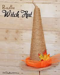Halloween Witch Craft Ideas by Rustic Witch Hat Tutorial Onecreativemommy Com