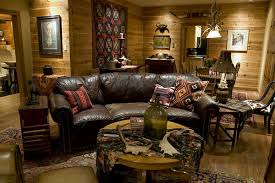 Lodge Living Room Decor by Our Homes Sayles Ranch Guesthouses
