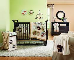 Nursery Room Theme Bedroom Mesmerizing Wooden Baby Room Furniture Set With Blue And