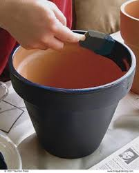 painting clay pots fine gardening