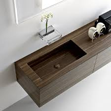 Modern Walnut Bathroom Vanity by Ultra Modern Italian Bathroom Design