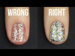 how to apply glitter nail polish kelli marissa youtube