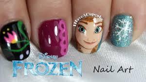 frozen nail art anna youtube