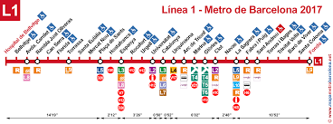Metro Lines Map by Maps Of The Underground Lines Barcelona 2017 Line By Line