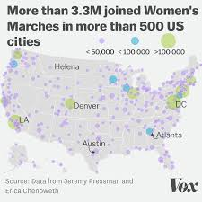 Washington Dc Usa Map by New Analysis The Women U0027s March In Washington Dc Drew Half A