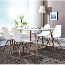 Overstock Dining Room Chairs by Vecelo Eames Side Chair With Natural Wood Legs Set Of 4