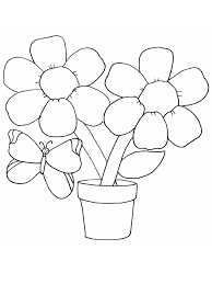 simple flower coloring pages to print 2950
