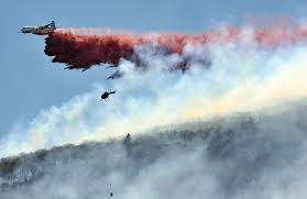 Wild Fires In Oregon Update by Water Bureau Ok U0027s Fire Retardant Drops In Portland U0027s Bull Run