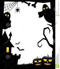 halloween silhouette frame 1 stock images image 34368324