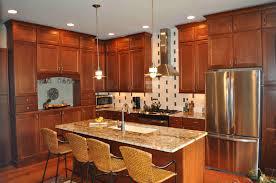 light cherry kitchen cabinets and granite luxurious cheery