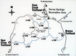 Payson Arizona Map by Cave Creek Trail 4 U2022 Hiking U2022 Arizona U2022 Hikearizona Com