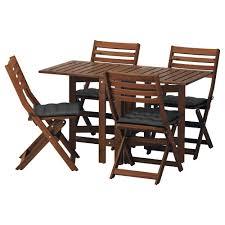 ApplarO ikea ikea ApplarO table 4 folding chairs outdoor
