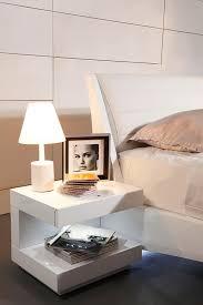 modrest esso modern white glossy nightstand