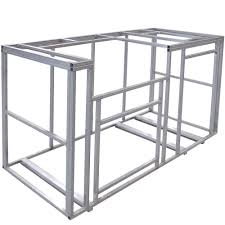 cal flame 6 ft outdoor kitchen island frame kit kd f6002 the