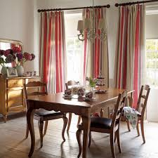 lovely dining room using laura ashley eaton stripe linen cotton