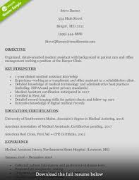 Resume For Caregiver Duties How To Write A Medical Assistant Resume With Examples