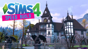 the sims 4 speed build carlisle manor gothic victorian no cc