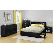 Livingroom Photos by Amazon Com South Shore Furniture Fusion Night Stand Pure Black