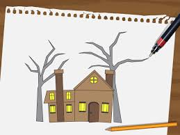 how to draw a haunted house 15 steps with pictures wikihow