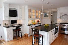 kitchen room white kitchen island black granite feat three