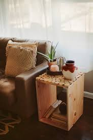 diy wood crate side table simple woodworking project living