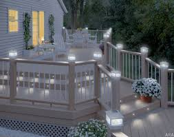 Patio Lights Outdoor by This Would Take Care Of Having To Wrap The Railing In Christmas