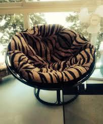 Papasan Chair In Living Room Papasan Chair With Black Frame And Zebra Printed Cushion Classic