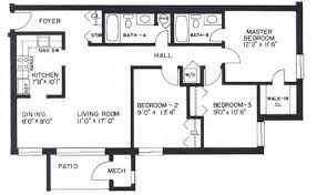 3 Bedroom Apartment Floor Plan The Faller Companies Nortgate Apartments