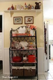 Decorating Ideas For Kitchen Best 25 Bakers Rack Ideas On Pinterest Rustic Bakers Racks