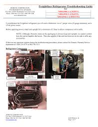 freightliner refrigerator troubleshooting guide for 74800 0980 11