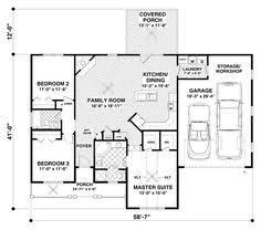 Ranch Style House Plans With Basement by Style House Plans 1309 Square Foot Home 1 Story 2 Bedroom And