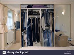 Wardrobes With Sliding Doors Shared Built In Bedroom Wardrobe With Mirror Sliding Doors Open To