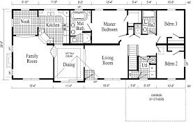 Split Level Ranch Floor Plans by Simple Ranch Floor Plans And Squire I Country Ranch Home Plan D