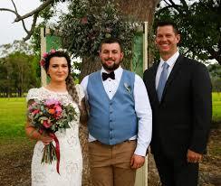 a backyard wedding like no other simon joice wedding celebrant