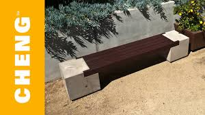 Build Wood Garden Bench by Make A Concrete And Wood Bench With Cheng Outdoor Concrete Mix And