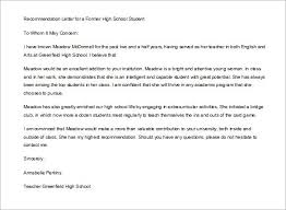Teacher Recommendation Letter For Student Going To College   Cover