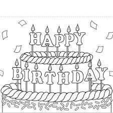 spongebob happy birthday coloring pages birthday coloring pages boy with presents and balloons happy