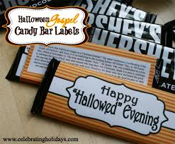 Printable Halloween Tracts by Halloween Candy Bar Labels With Gospel Message Celebrating Holidays