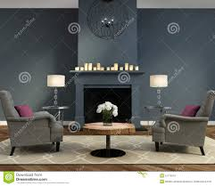 Designing Living Rooms With Fireplaces Elegant Luxury Contemporary Living Room With Fireplace Stock Photo